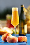 Italian Bellini alcoholic cocktail with peach Royalty Free Stock Image