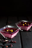 Italian berry panna cotta Royalty Free Stock Images
