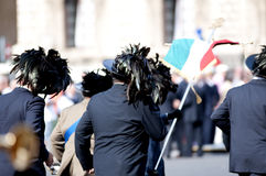 Italian Bersaglieri. During the ceremony of the Italian armed forces Stock Images