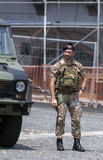 Italian Bersaglieri soldier Royalty Free Stock Image