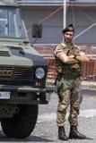 Italian Bersaglieri soldier Stock Photos