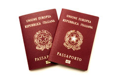 Italian biometric e-passports Royalty Free Stock Images