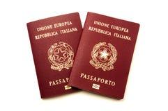 Italian biometric e-passports Royalty Free Stock Images