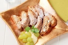 Italian biscotti royalty free stock images