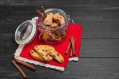 Italian biscotti cookies Stock Photography