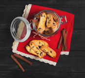 Italian biscotti cookies Stock Image