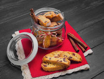 Italian biscotti cookies Stock Photography
