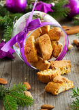 Italian biscotti cookies Stock Photo