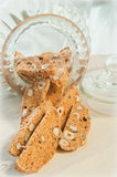 Italian biscotti in a jar Stock Image