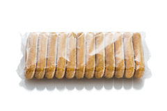 Italian biscuits called Savoiardi in plastic package Stock Photography