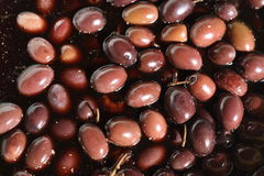 Italian Black olives Royalty Free Stock Photos