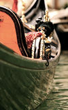 Italian Boat. Boat on the water in italy filled with foreign trinkets stock photography