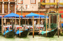 Italian Boat Parking. View of italian city with boats parked along the shore royalty free stock photography