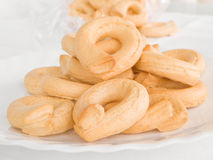 Italian Boiled Pretzels: Taralli. Stock Photo