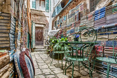 Italian Bookstore S Back Alley Royalty Free Stock Images