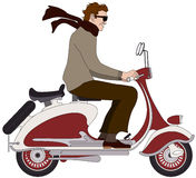 Italian boy on a scooter Royalty Free Stock Photo