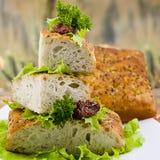 Italian bread Focaccia. With rosemary Stock Photo