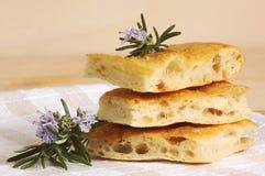 Italian bread focaccia with herbs Stock Photo