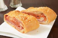Italian bread roll sandwich Stock Images