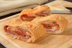 Italian bread roll sandwich Stock Image