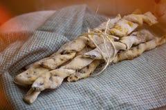 Italian bread sticks Stock Images