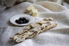 Italian bread sticks Stock Image