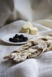 Italian bread sticks Royalty Free Stock Photography