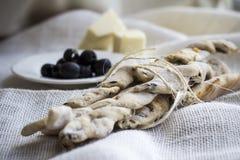 Italian bread sticks Stock Photography