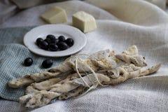 Italian bread sticks Royalty Free Stock Photo