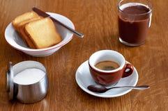 Italian breakfast Royalty Free Stock Photography