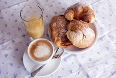 Italian breakfast Royalty Free Stock Image