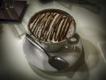 Italian breakfast. Cappuccino with chocolate Royalty Free Stock Images