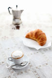 Italian breakfast coffee and brioches Royalty Free Stock Photos