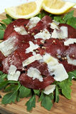 Italian bresaola Royalty Free Stock Photography