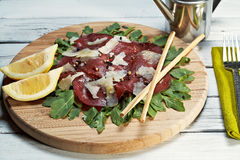 Italian bresaola Stock Images