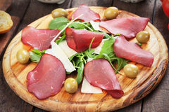 Italian bresaola cured beef meat Stock Photography