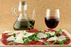 Italian bresaola product Royalty Free Stock Photos