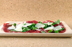 Italian bresaola product Stock Images
