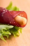 Italian bresaola prosciutto Stock Photo