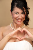 Italian Bride with Heart out of Hands Royalty Free Stock Image
