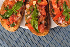 Italian bruschetta Stock Photography