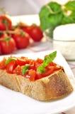 Italian bruschetta Stock Images
