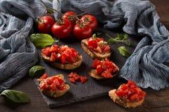 Italian bruschetta, appetizer Royalty Free Stock Images