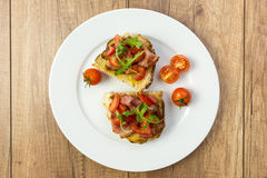 Italian Bruschetta Plate Royalty Free Stock Photo