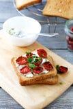 Italian bruschetta with sun-dried tomatoes Royalty Free Stock Photo