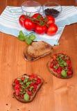 Italian bruschetta Royalty Free Stock Photos