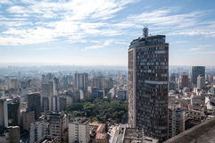 Italian building in downtown sao paulo Royalty Free Stock Photos