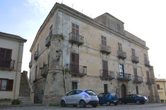 Italian building. A photo of an Italian building with overhanging balconies Royalty Free Stock Images