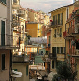 Italian Buildings Background Stock Photos
