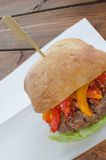 Italian burger Stock Photo